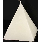 PYRAMID CANDLE-WHITE