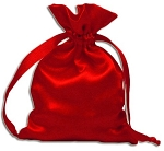 RED SATIN POUCH