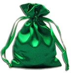 EMERALD GREEN SATIN POUCH