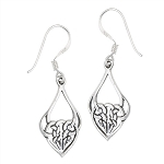 CELTIC AND HEART EARRING