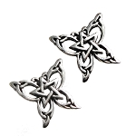 BUTTERFLY PENTACLE STUD