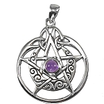 CRESCENT MOON PENTACLE W/CIRCLE