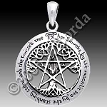 CUT OUT TREE PENTACLE W/WORDS Lg