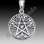 CUT OUT TREE PENTACLE NO WORDS Small