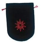 DOUBLE PENTAGRAM VELVET BAG